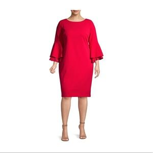 Calvin Klein Tiered Bell Sleeve Dress